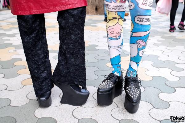 Heel-less Platforms & Alice in Wonderland Tights