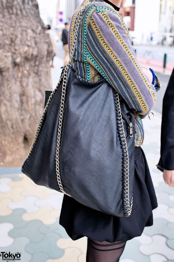 Chain Leather Purse in Harajuku