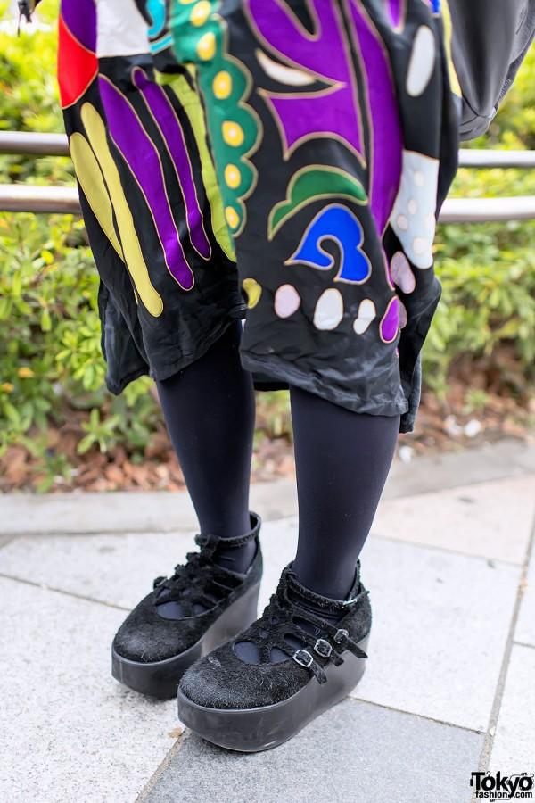 Black Tokyo Bopper Platform Shoes