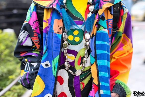 Silver Necklace & Colorful Fashion