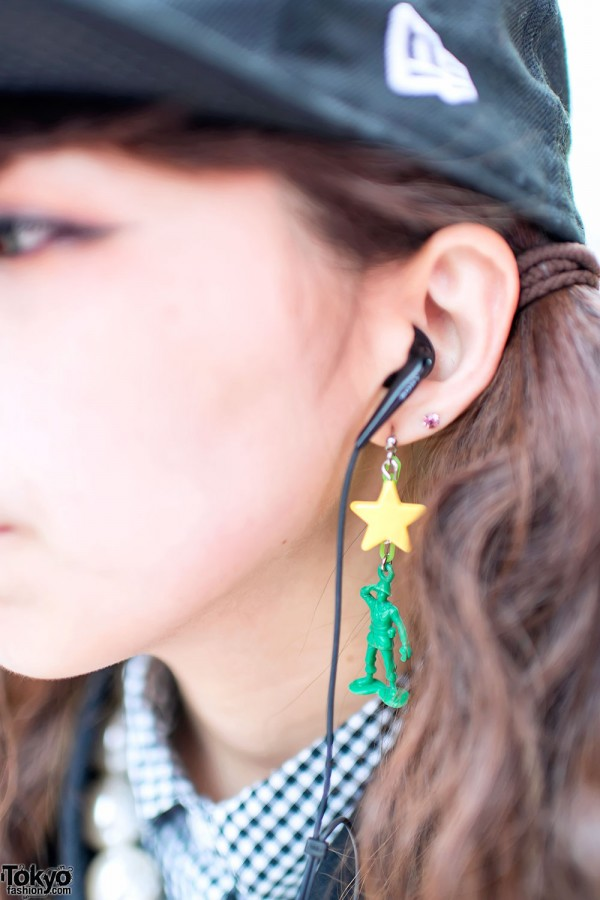 Toy soldier earring