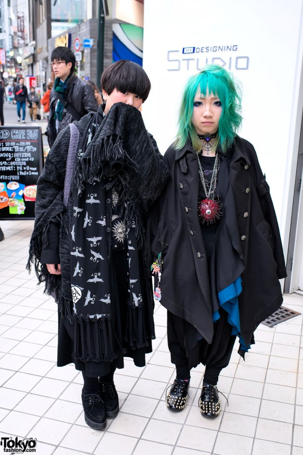 Boy London, Eyeball Necklace & Aqua Hair in Harajuku