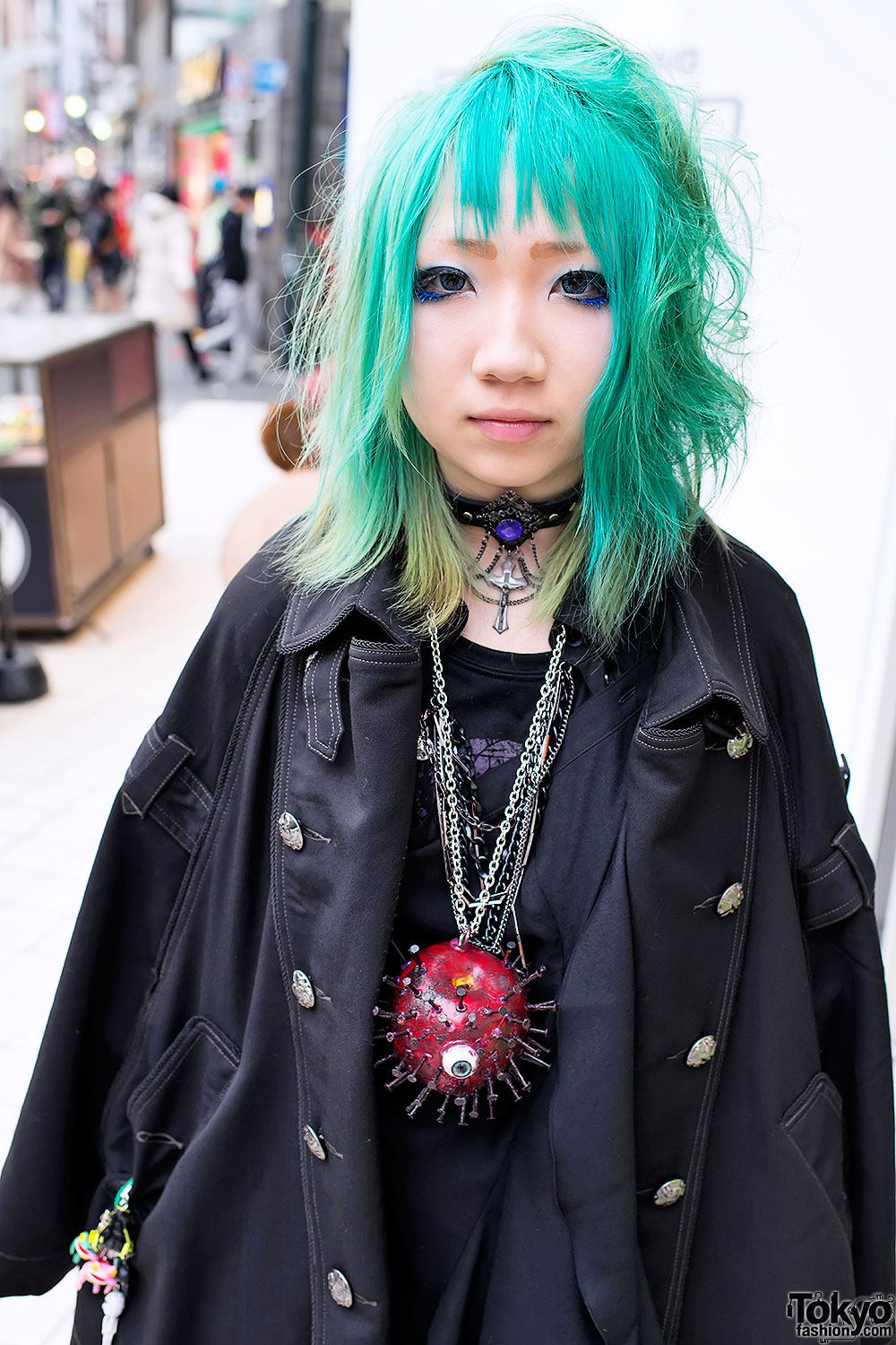 Boy London Eyeball Necklace Amp Aqua Hair In Harajuku
