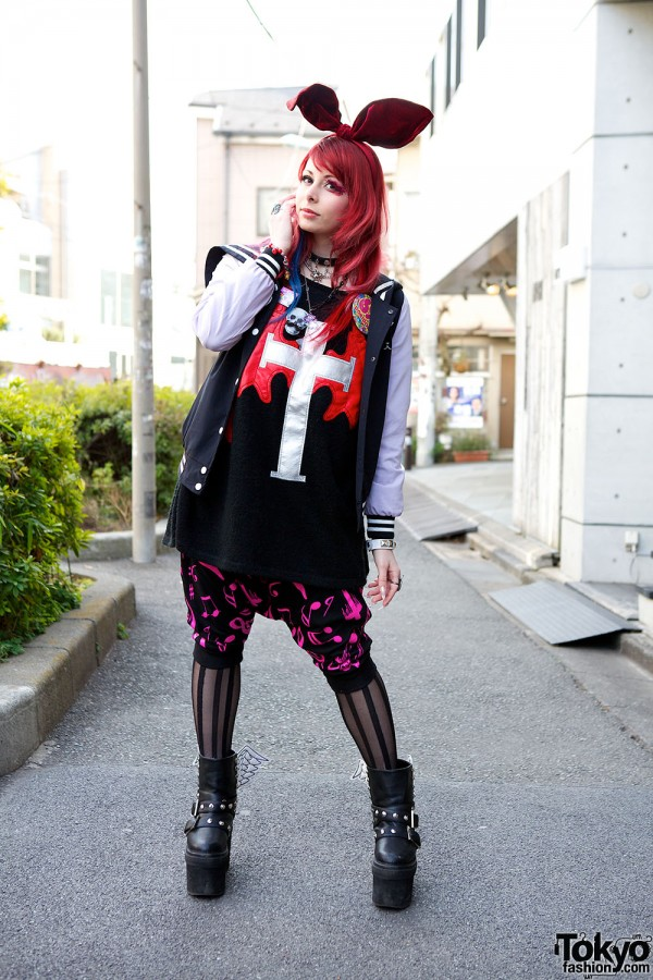 Harajuku Fashion Walk Street Snaps (43)