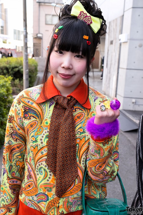 Harajuku Fashion Walk Street Snaps (48)