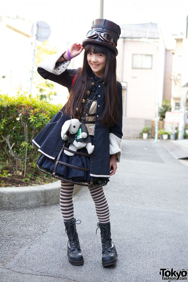 Harajuku Fashion Walk Street Snaps (55)