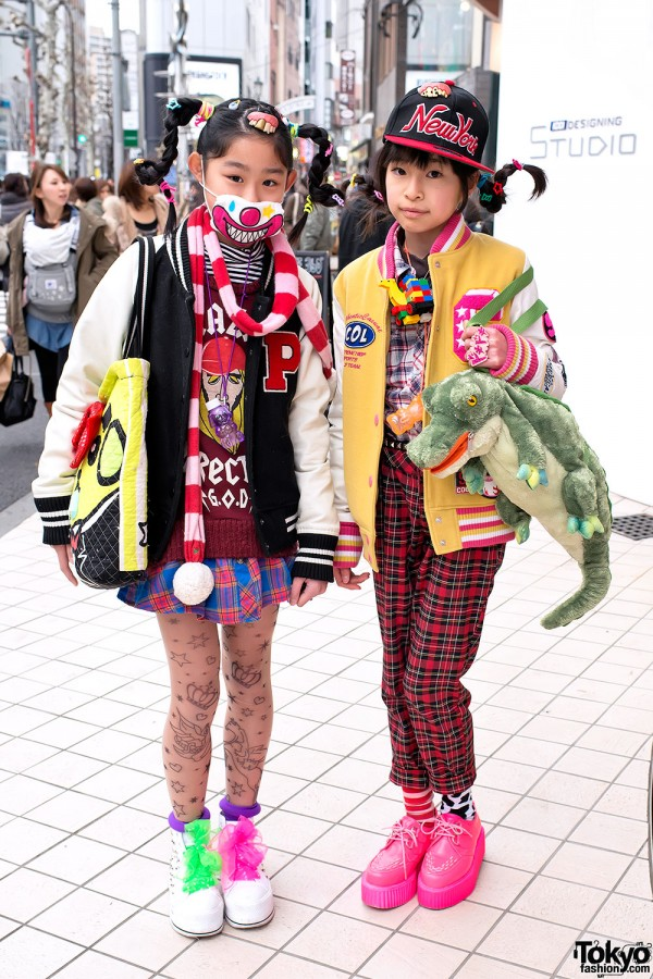 Fun Harajuku Girls w/ Gravity-Defying Braids, 6%DOKIDOKI & Teeth on Their Heads