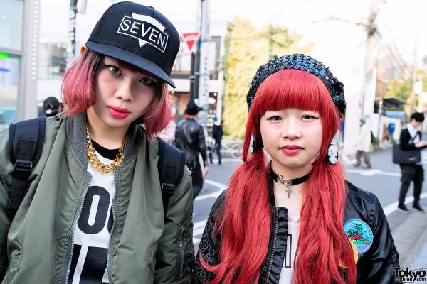 Pink-tipped Hair vs Red Hair in Harajuku