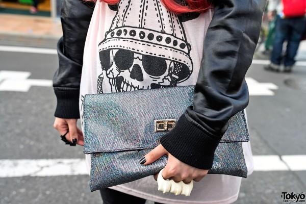 Sparkling Clutch & Skull in Harajuku