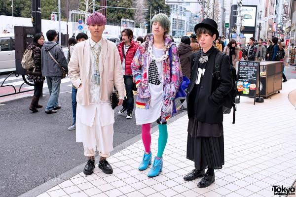 Harajuku Guys w/ Colorful Hair, Banal Chic Bizarre Heels, Creepers & Brogues