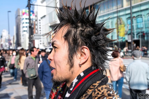 Punk Spikes Hair in Tokyo