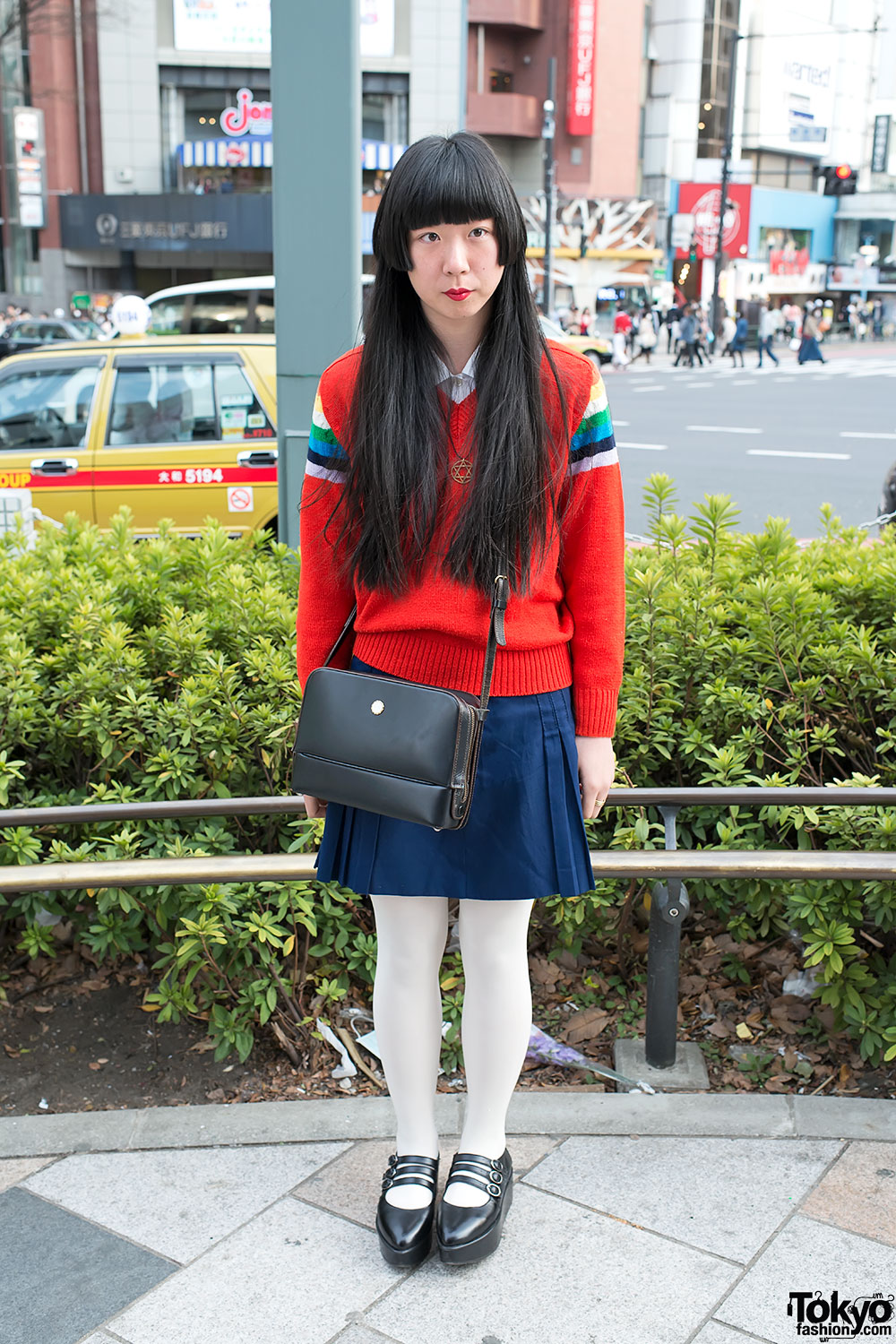 retro style w marie claire paris bag long hair sweater in harajuku. Black Bedroom Furniture Sets. Home Design Ideas