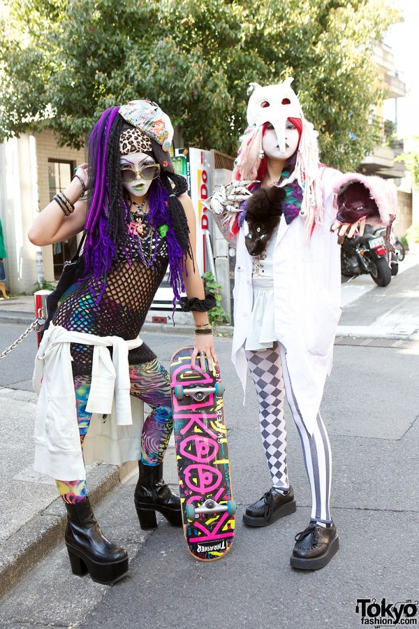 Japanese Shironuri Fashion in Harajuku (63)