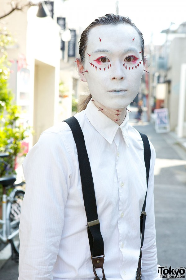 Japanese Shironuri Fashion in Harajuku (82)