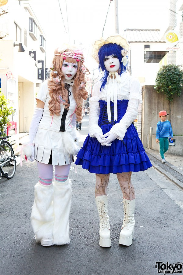 Japanese Shironuri Fashion in Harajuku (83)