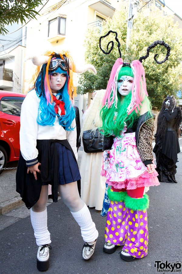 Japanese Shironuri Fashion in Harajuku (89)
