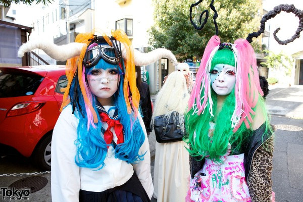 Japanese Shironuri Fashion in Harajuku (90)
