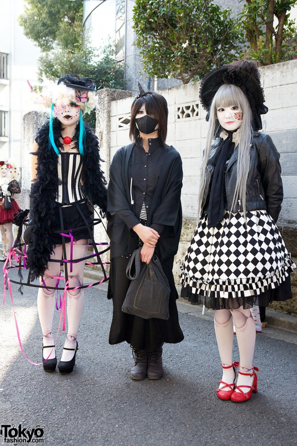 Japanese Shironuri Fashion in Harajuku (101)