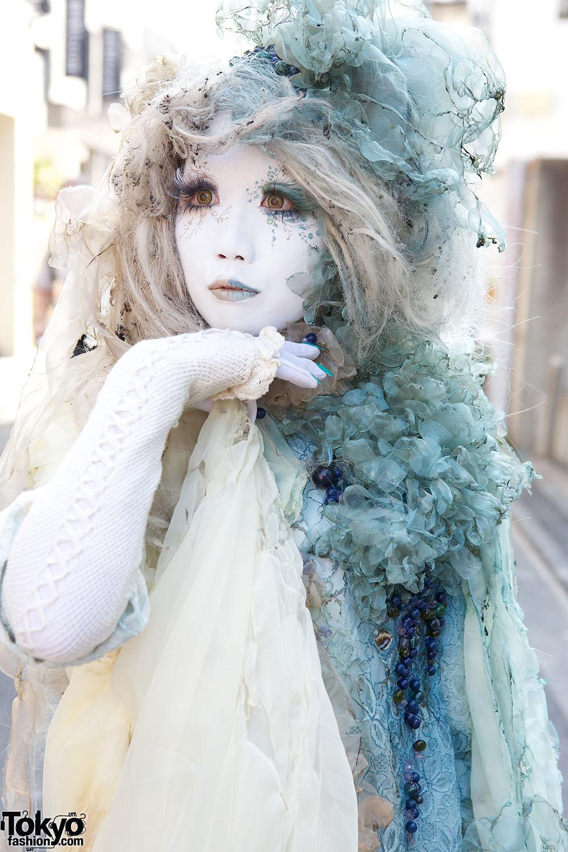 Japanese Shironuri Fashion In Harajuku 107 Tokyo