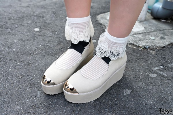 Metal Toe Platform Shoes