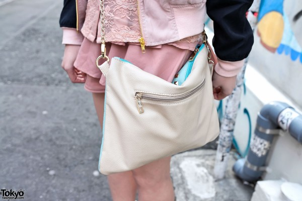 Studded Pouch With Chain in Harajuku