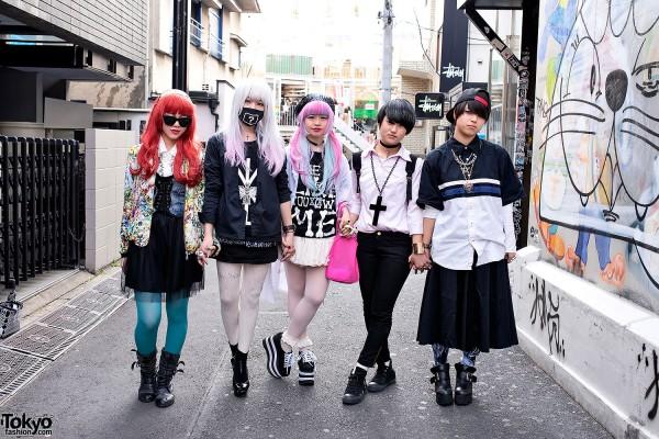 Harajuku Girls in Modern Streetwear Style w/ Boy London & Jeffrey Campbell