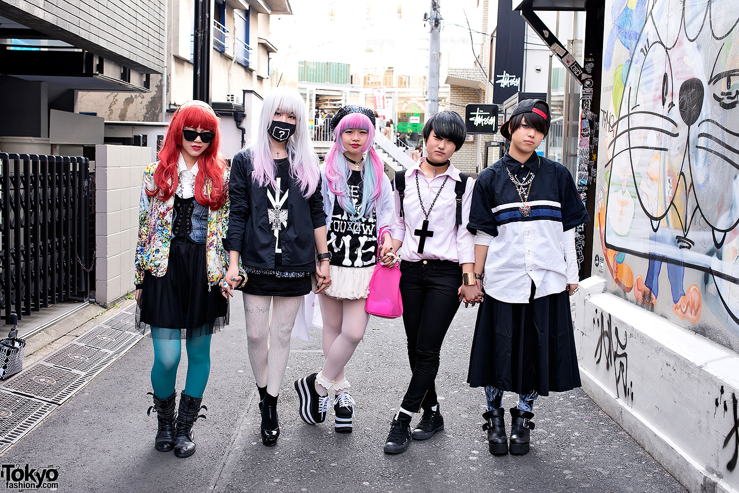 Harajuku Girls In Modern Streetwear Style W Boy London Jeffrey Campbell