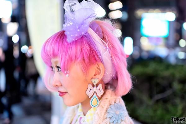 Vivienne Westwood Earring & Pink Hair
