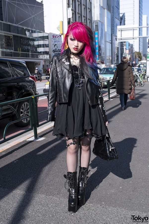 Lisa13 All Black Harajuku Fashion