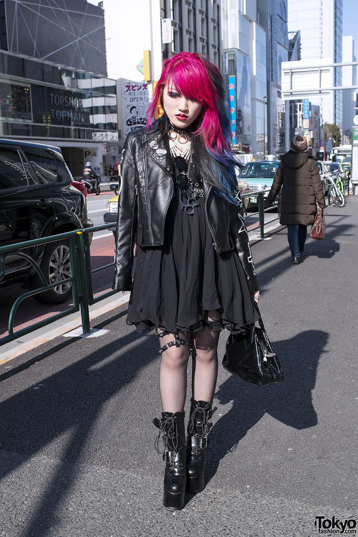 Lisa13 All Black Harajuku Fashion