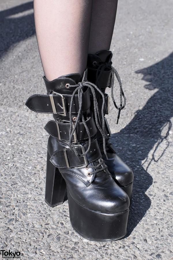 Demonia Platform Buckle Boots