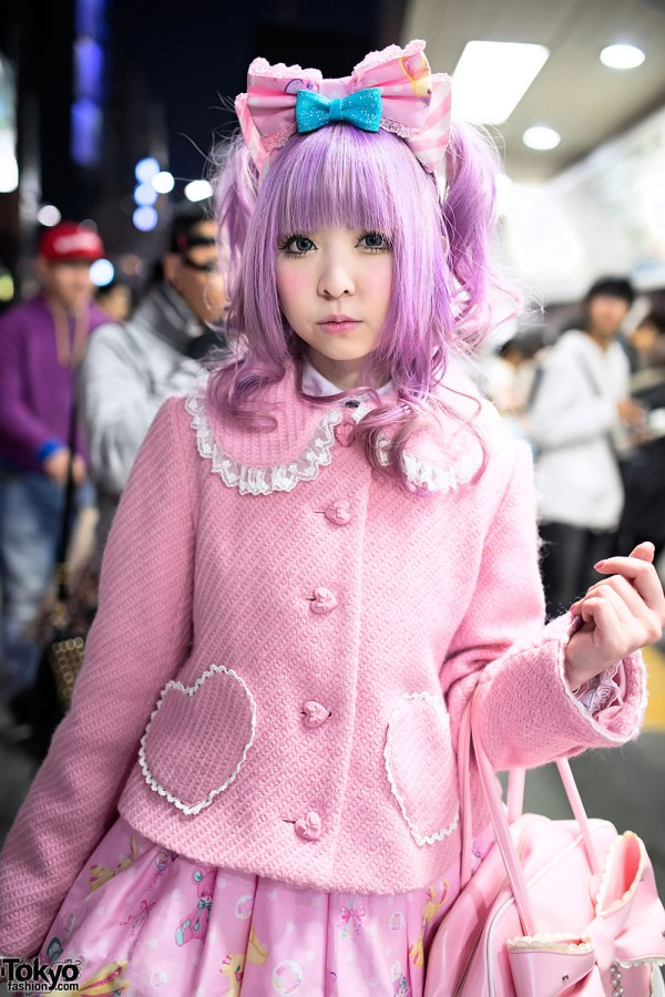 Kawaii Pink Fashion in Harajuku