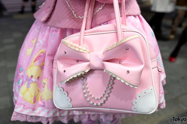 Angelic Pretty Pink Bow Handbag