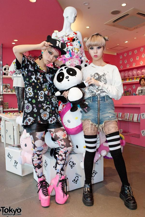 Juria & Hirari at Nicopanda Harajuku