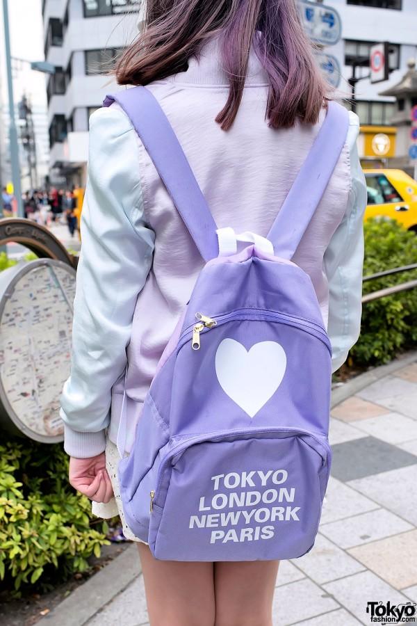 Cute Pastel Backpack in Harajuku