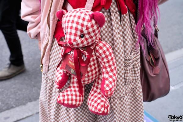 Pink House Teddy Bear in Harajuku