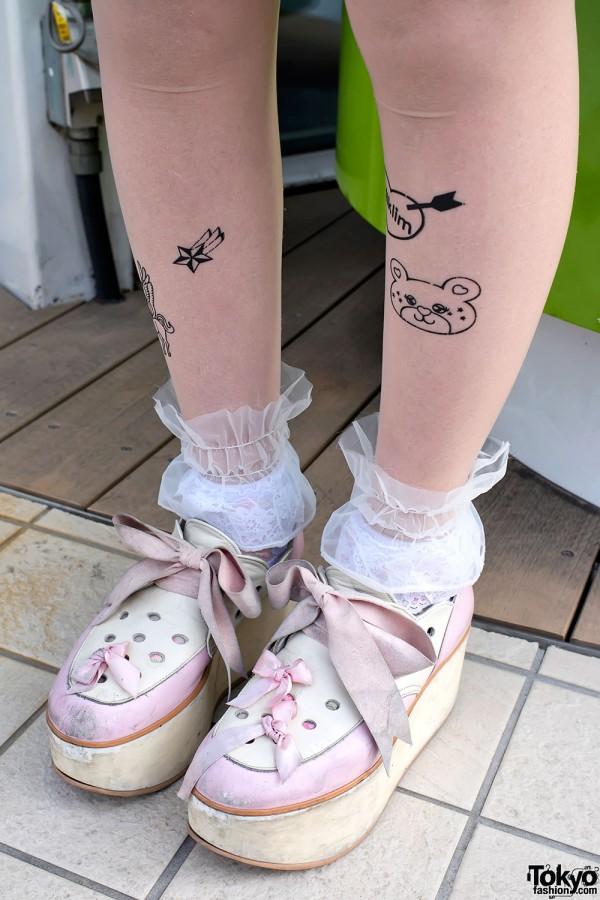 Milklim Tattoo Tights & Tokyo Bopper