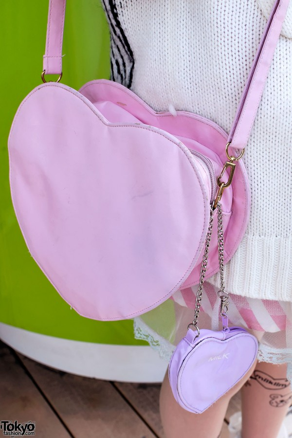 Milk Heart Shaped Handbag in Harajuku
