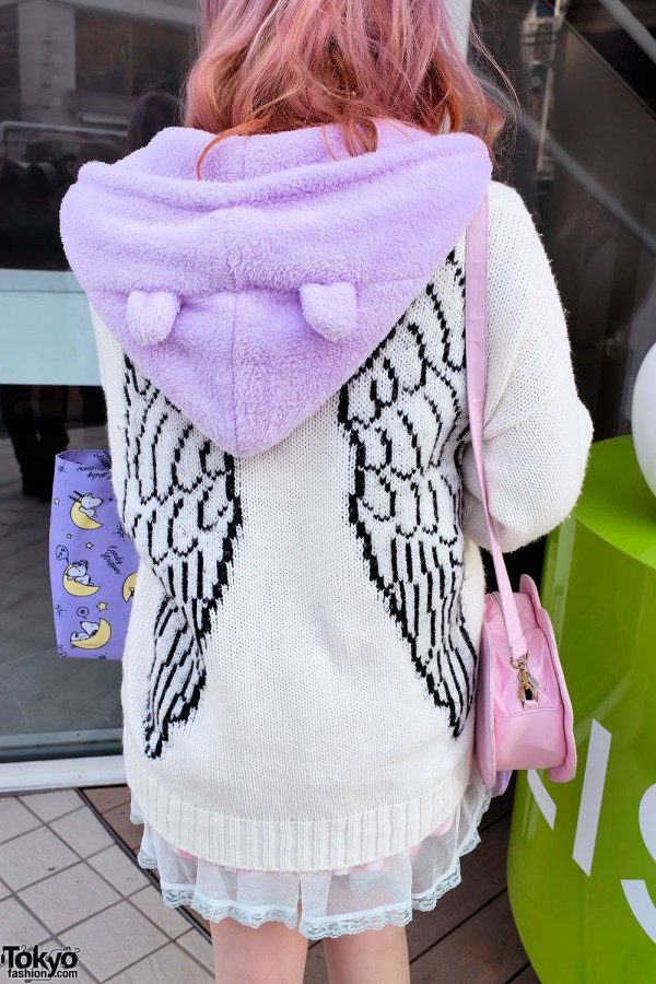 Winged Sweater & Ears Hoodie