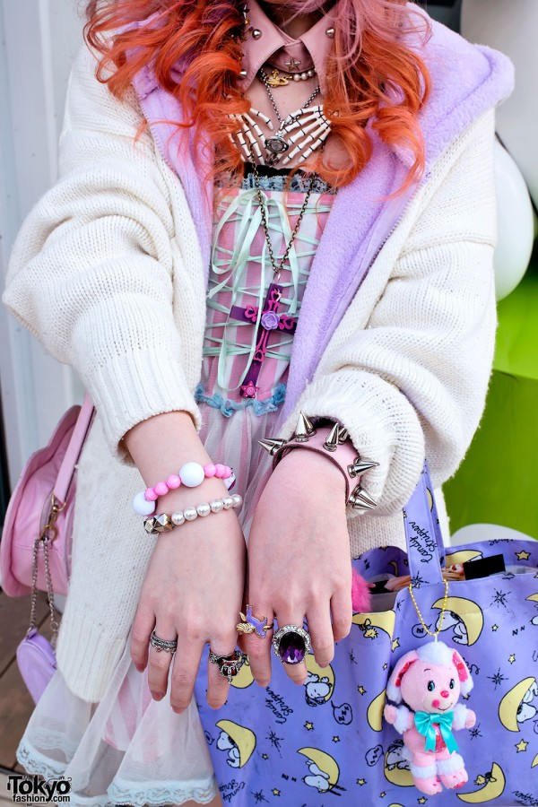 Spike Bracelet & Rings in Harajuku