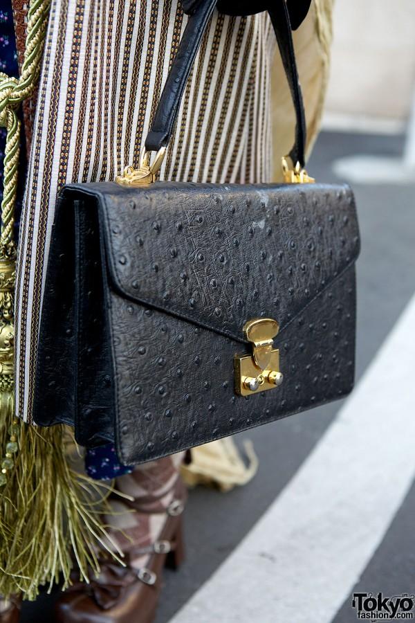 Black Vintage Leather Bag