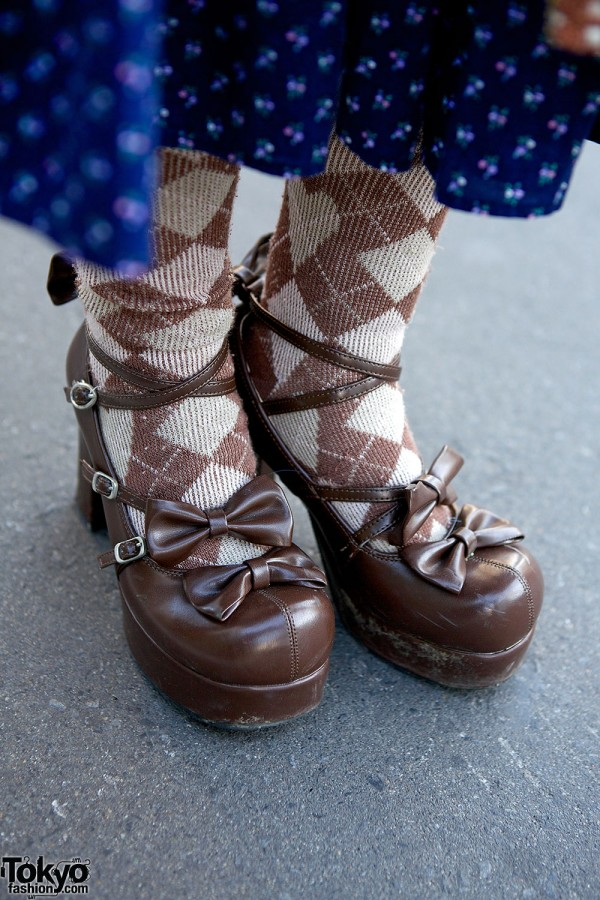 Lolita bow shoes