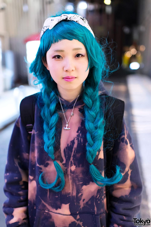 Aqua Braids Hairstyle In Harajuku Tokyo Fashion News