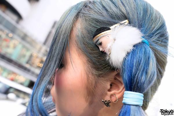 Doll Head Hair Tie in Harajuku