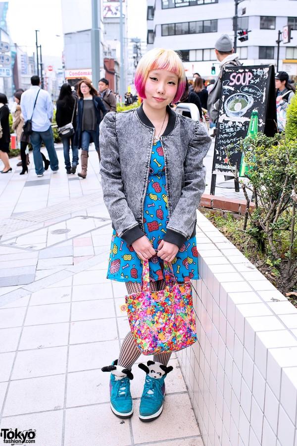 Puff Sleeve Denim Jacket & Cute Dress