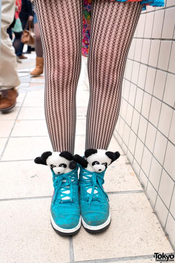 Kawaii Panda Sneakers in Harajuku