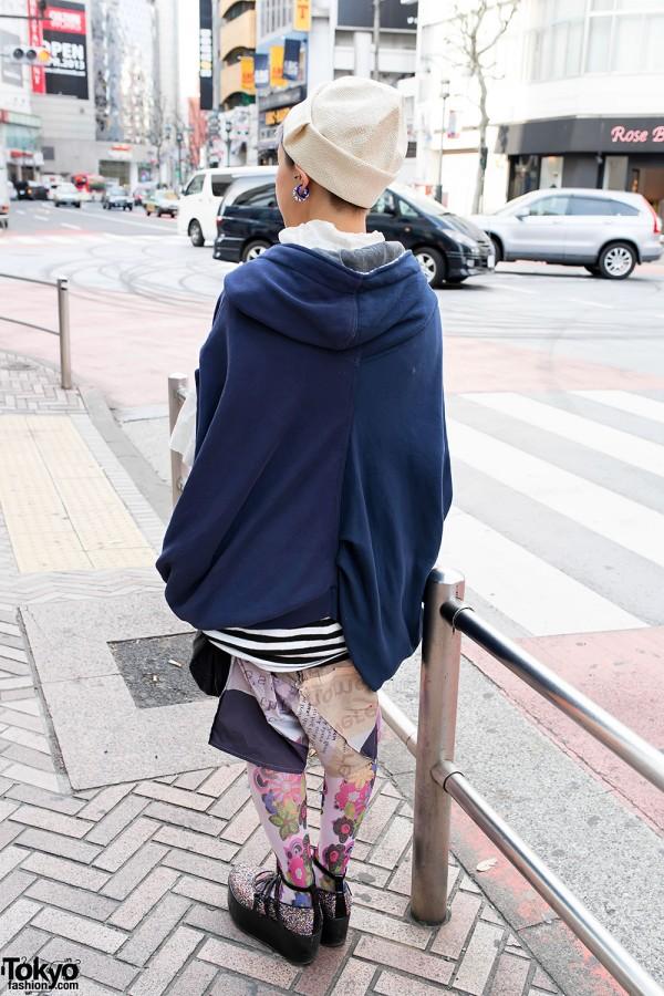 Deconstructed Hoodie & Skirt