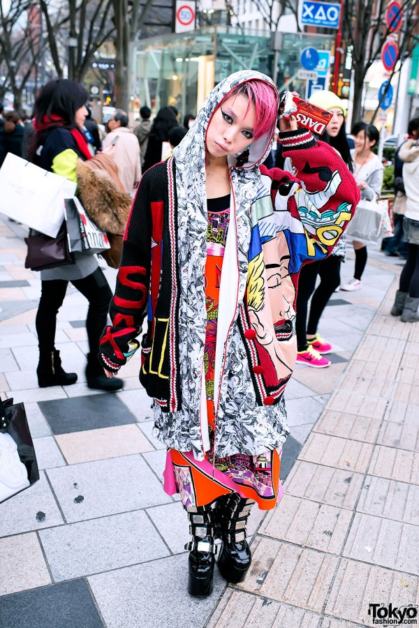 Hirari Ikeda w/ Marilyn Monroe Hoodie & Graphic Sweater in Harajuku