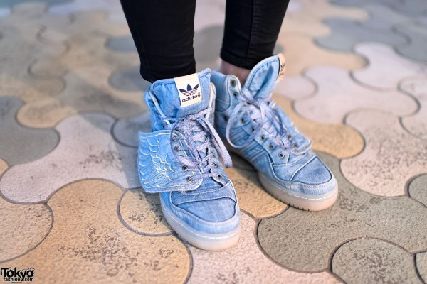 Jeremy Scott x Adidas denim wing sneakers