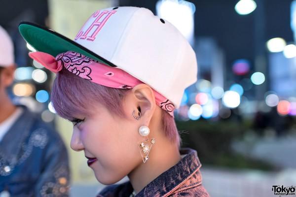 Cute Earrings & RICH Cap